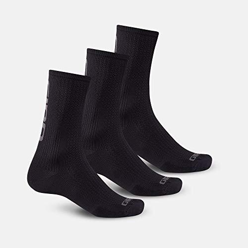 Giro HRc Team - Calcetines de ciclismo (3 unidades), color negro y gris oscuro (2020), talla XL