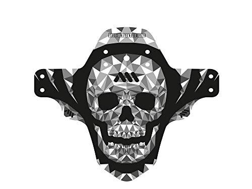 All Mountain Style Guardabarros delantero – Protege a tí y a tu bicicleta, Gris/Cráneo