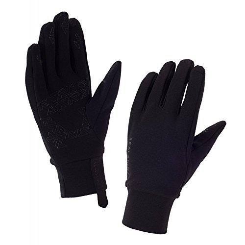 SEALSKINZ Guantes de forro polar elástico, color negro, talla grande