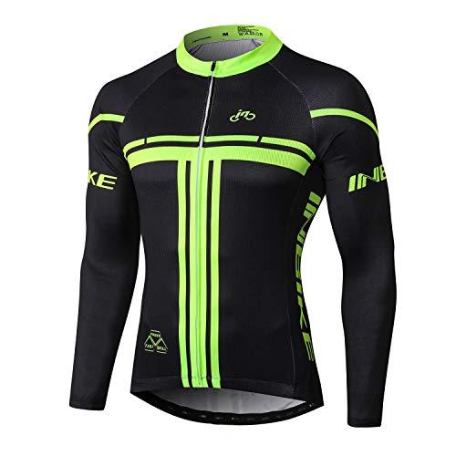 INBIKE Maillot Ciclismo Bicicleta De Manga Larga para Hombre, Camiseta Ciclismo MTB 100% Poliéster(3XL)