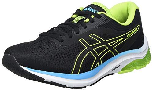 Asics Gel-Pulse 12, Road Running Shoe Hombre, Black/Hazard Green, 46 EU