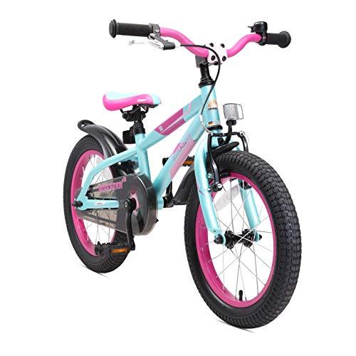 BIKESTAR Bicicleta Infantil para niños y niñas a Partir de 4 años | Bici de montaña 16 Pulgadas con Frenos | 16' Edición Mountainbike Turquesa