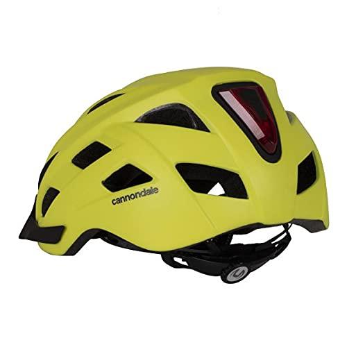 Cannondale Quick - Casco de bicicleta con luz trasera integrada (grande, amarillo)