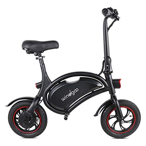 Windway Bicicleta eléctrica, Bicicleta eléctrica Plegable con Motor de 350W, Bicicleta eléctrica de 12'para Adultos, 25 km/h, Batería de Litio de 36V y 6,0 AH