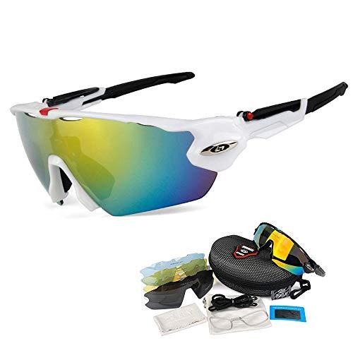 OPEL-R Gafas de Ciclismo de Deportes al Aire Libre, Gafas MTB Polarizadas a Prueba de Viento para Bicicletas PC Casual Beach Oakley Jawbreaker Sunglasses Contiene 5 Tipos de Lentes,3SUBSECTION