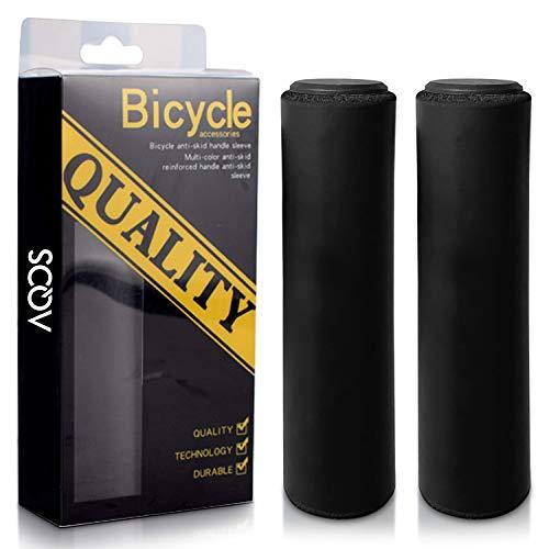 AQOS© Puños Bicicleta, 2 Unidades, montaña, MTB, Silicona, Grips, Mangos, Manguitos,...*