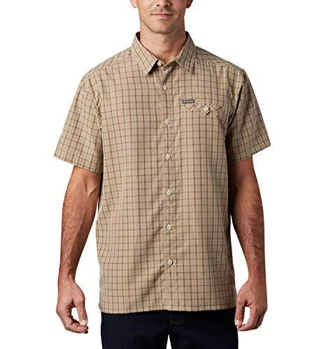 Columbia Declination Trail II Camisa de Manga Corta, Hombre, Beige (Fossil), M