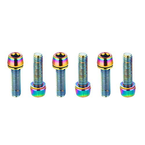 CNC Tornillos para Bicicleta,MTB Tornillo vástago, M5 x 18 mm Tornillos de Potencia y Manillar,Colores