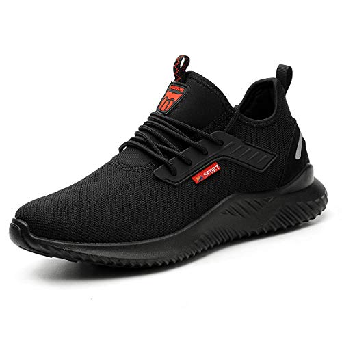 YISIQ Zapatos de Seguridad para Hombre Mujer Transpirable Ligeras con Puntera de Acero Trabajo...*