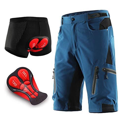 Pantalon Enduro MTB Holgado Transpirable Pantalon Cortos MTB Hombre Impermeable Pantalon Mountain...*