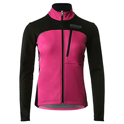 Mysenlan Mujer Chaqueta de Ciclismo Senderismo Esquí Correr Abrigo Prueba de Viento Invierno Térmico Softshell Jacket al Aire Libre Deportiva