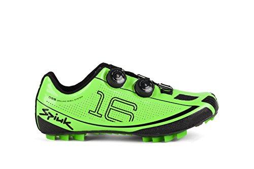 Spiuk 16Mc MTB C Zapatillas, Unisex Adulto, Verde Negro, 38
