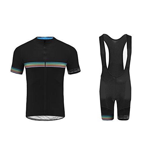 Future Sports UGLYFROG Designs Bike Wear Ropa Verano Conjunta de Ciclismo de Hombre - Ciclismo Maillot Jersey y Bib Pantalones Cortos Ropa de Bicicleta Secado Rápido Respirable Sudor-Que Absorbe