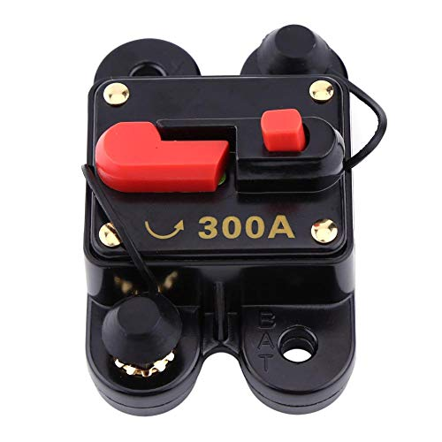 Walfront 12V-24V 80-300A DC Coche Auto Marine Bicicleta Estéreo Audio Interruptor de Circuito Restablecer Fusible(300A)