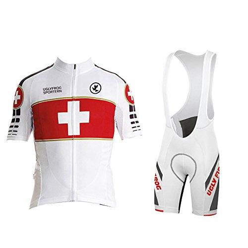 UGLY FROG Maillot de ciclismo para hombre de manga corta, ropa de ciclismo, transpirable, secado...*