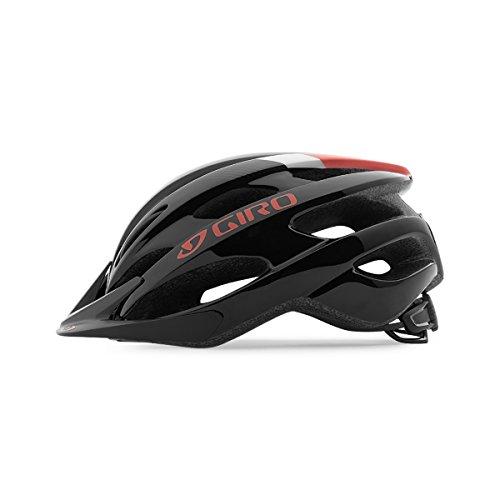 Giro Nine Casco de Bicicleta, Unisex Adulto, Negro/Rojo Brillante/Verde, Uni 54-61cm