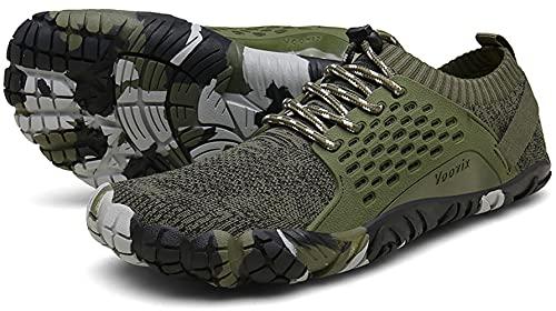 Voovix Hombre Mujer Zapatilla Minimalista de Barefoot Trail Running Unisex Zapatos Descalzos,...*