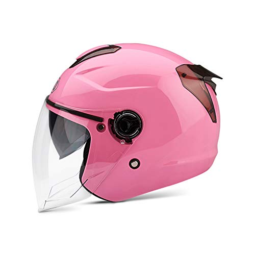 BOSEMAN Casco de Motocicleta con Visera, Adecuado para ciclomotores, Scooters, cruceros, Pase la...*