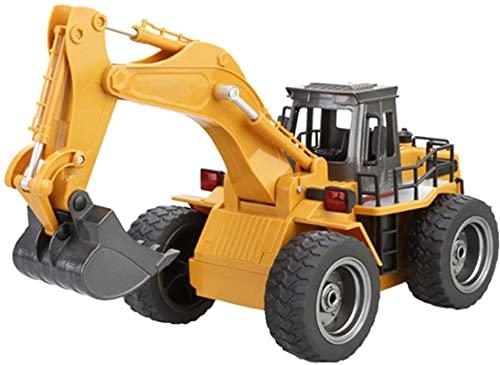 Excavadora de Control Remoto de aleación, 1:18 Excavadora de Seis Canales RC Excavadora...*