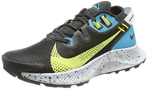 Nike W Pegasus Trail 2, Zapatillas para Correr Mujer, Off Noir Limelight Laser Blue Dk Sulfur, 41 EU