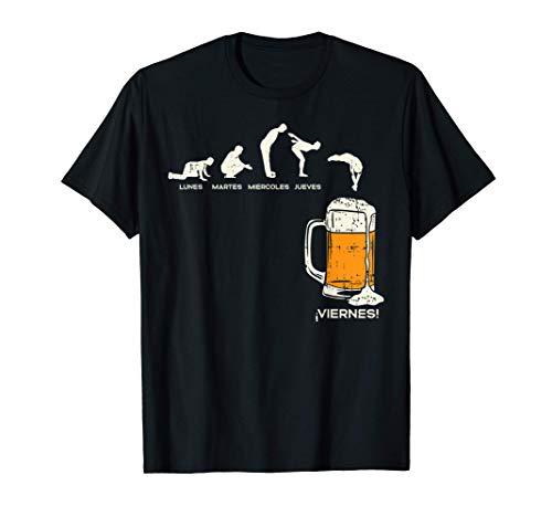 Hombre Los Dias De La Semana Y Cerveza Humor Beer Beverage Regalo Camiseta*