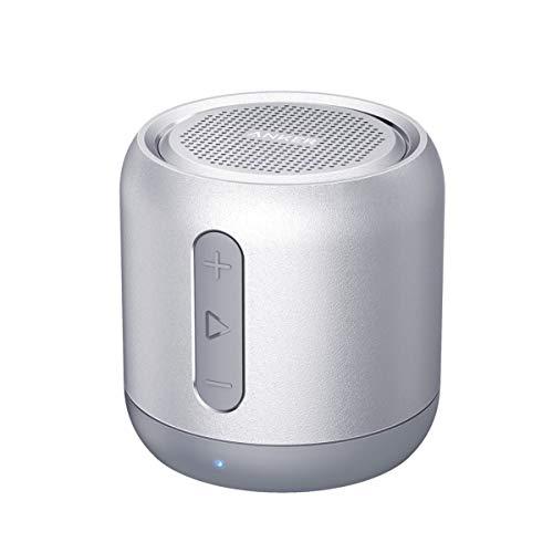 Anker Soundcore Mini Altavoz Bluetooth, Super Altavoz portátil con 15 Horas de Reproducción, Rango de 20 Metros Bluetooth, Bajos mejorados, Funciona con iPhone, iPad, Samsung, Nexus, HTC y más