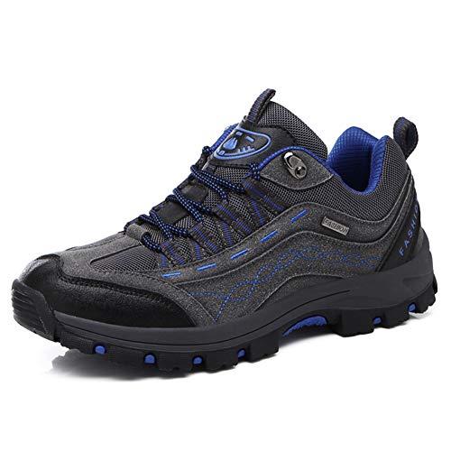 DimaiGlobal Zapatillas de Trekking para Hombres Zapatillas de Senderismo Botas de Montaña Impermeable Antideslizantes AL Aire Libre Deportes Escalada Gris 43EU