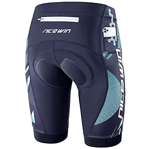 NICEWIN Pantalones Cortos de Ciclismo para Hombre con Almohadilla Pantalones Bicicleta Acolchada con...*