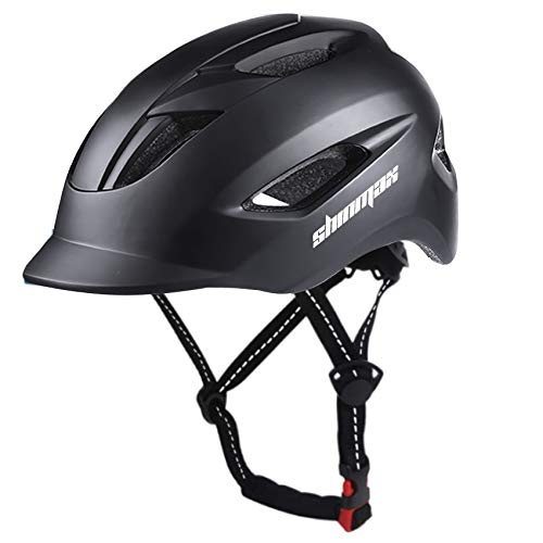 Shinmax Casco Bicicleta,Certificación CE,con luz Trasera LED y Diseño de Cinturón de Seguridad...*