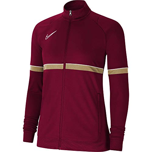 NIKE Chaqueta para mujer Academy 21 Track Jacket, Mujer, CV2677-677, rojo/blanco/dorado/blanco, small