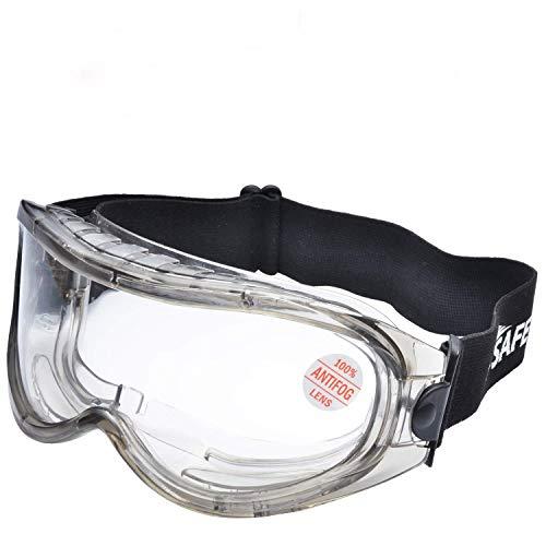 SAFEYEAR Laboratorio Gafas Protectoras de Seguridad de Obra gafas proteccion [Cinta ajustable] SG007 con Lentes Policarbonatos Protección contra Impacto Soldadura Laboral Graduadas Trabajo