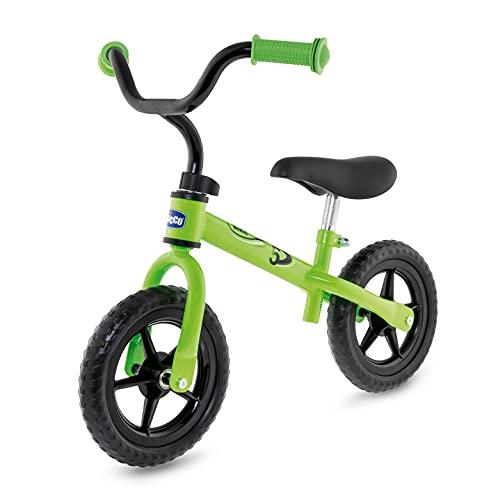 Chicco Bicicleta sin Pedales First Bike para Niños de 2 a 5 Años hasta 25 Kg, Bici para Aprender a Mantener el Equilibrio con Manillar y Sillín Ajustables, Color Verde - para Niños de 2 a 5 Años