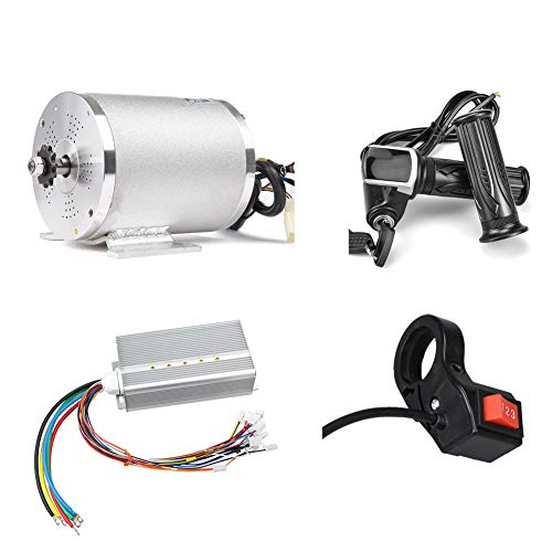 Motor de scooter eléctrico 48V 2000W Motor de accionamiento medio Controlador DC sin escobillas 45A con LCD Acelerador Interruptor de 3 velocidades para Go Kart ATV Bicicleta eléctrica