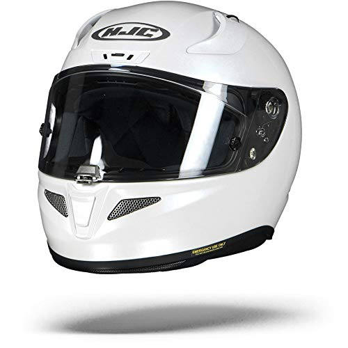 HJC Helmets 13202906 Casco de Moto, Blanco Perlado Ryan, Talla XS