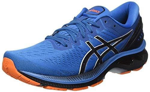 Asics Gel-Kayano 27, Road Running Shoe Hombre, Reborn Blue/Black, 43.5 EU