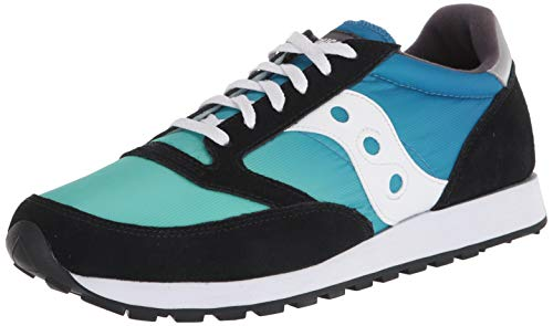 Saucony Jazz Fade Black/Blue/Green, Zapatillas de Atletismo Unisex Adulto, 48 EU