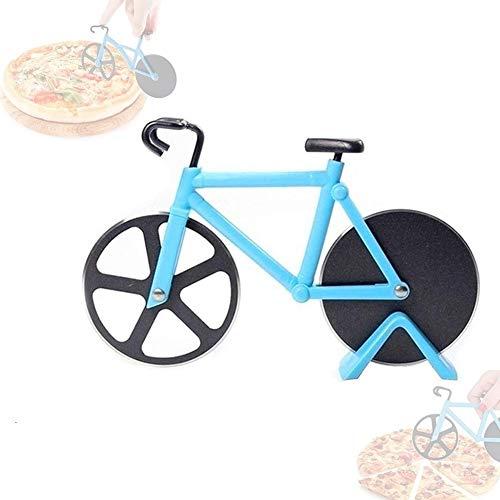 Cortador de Pizza Cortador de Pizza Bicicleta/Cortador de Pizza de Acero Inoxidable/Acero Inoxidable/Apto para hogar y Cocina/Azul