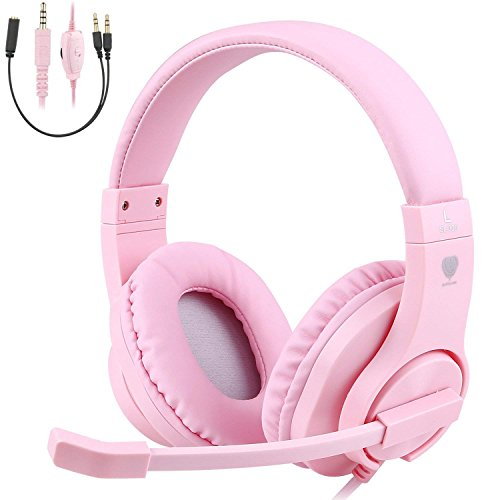 TurnRaise Auriculares para Niños, 40mm Flexible Auriculares con Cable con Micrófono y Control de...*