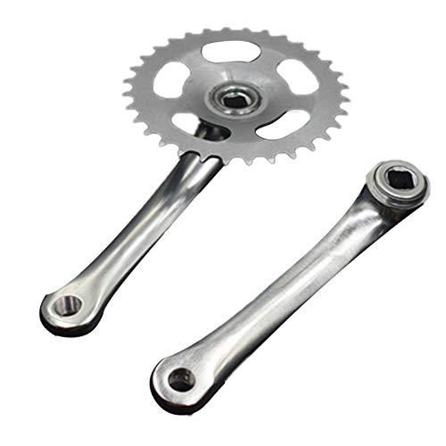 Sucute Bielas de aleación de aluminio para bicicleta, pedales de cadena de bicicleta 32T, manivela...*