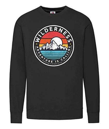 Druckerlebnis24 Suéter – Wildnis Aventure Mountain Bike – Sudadera unisex para niños – Niño...*