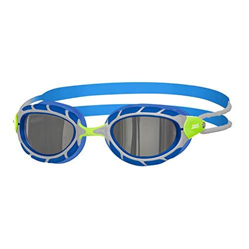 Zoggs Predator Gafas de natación, Unisex Adulto, Verde/Azul/Espejo, Regular