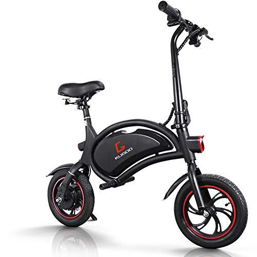 urbetter Bicicleta Eléctrica Plegable, 25 Km/h, Ruedas de 12 Pulgadas, 250W Batería 36V/6.0Ah, Asiento Ajustable, Bici Electrica Urbana Ligera para Adulto Unisex - B1