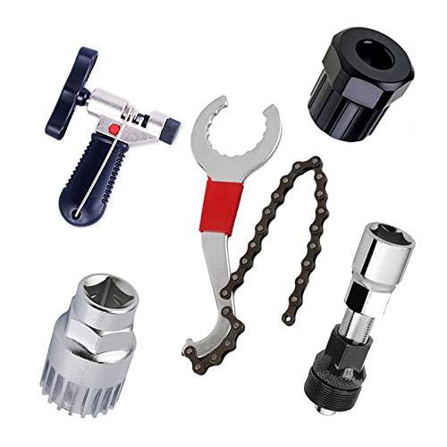 BeiLan Kits de Herramientas de reparacion de Bicicleta y Bicicletas de montaña,Cortador de Cadena de Bicicleta+Remover de Cadena+Remover de Cordal+Remover de Rueda Libre+Remover de biela
