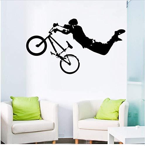 Boy Giant Bmx Wall Vinyl Art Mural Decal Decoración Del Hogar Pegatinas De Pared Cama Habitación Decoración 57X108Cm