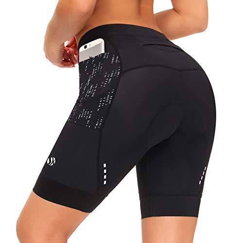 SKYSPER Pantalones Cortos de Ciclismo para Mujer 4D Acolchado Pantalones Cortos de Cintura Alta para...*