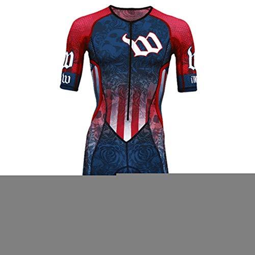 NHGFP QPM Jersey De Triatlón Skinsuit Vestimenta De Ciclismo Salpicaduras Hombre En Bicicleta Conjunto De Cuerpo Juego De Los Deportes De Velocidad MTB Mono (Color : 1, Size : L)