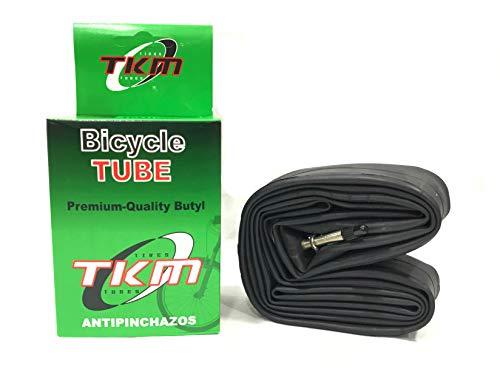 TKM 10983- Cámara de aire Antipinchazos para Bicicleta MTB Super Reforzada 29' X1.95/2.125/2.35 Válvula Fina F/V