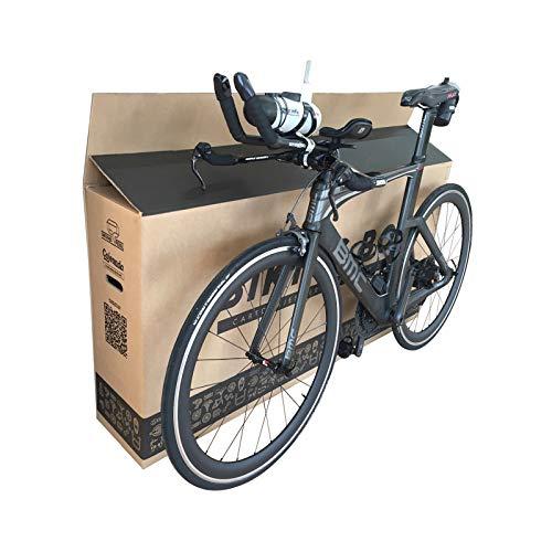 Cajeando | (1x) Caja de Cartón para Bicicletas | Tamaño 1440 x 255 x 940 mm | Canal Doble Alta Calidad y Resistencia | Transporte, Mudanza y Envíos | Fabricadas en España