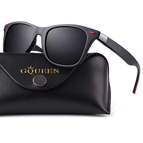 GQUEEN Gafas de Sol polarizadas hombre Mujere TR90 para Conducir Deportes Ciclismo 100% Protección...*