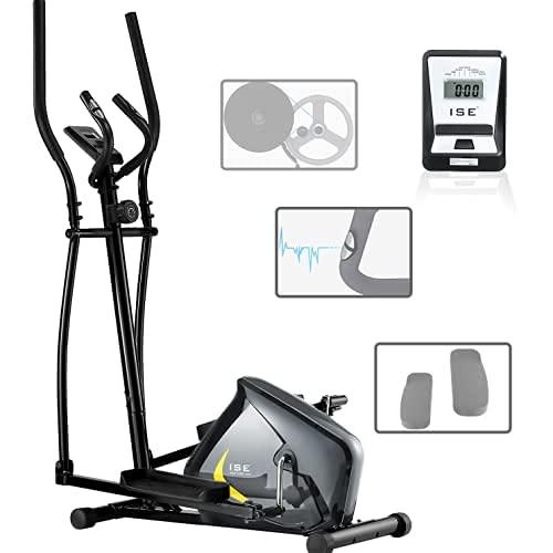 ISE Bicicleta Elíptica de Fitness para Casa con Sensor de Pulso, 8 Niveles de Resistencia de...*